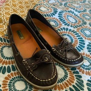 Brown Leather Sperry Topsiders